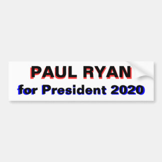 Paul Ryan for President 2020 white Bumper Sticker