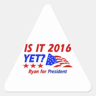 Paul Ryan for President designs Triangle Sticker