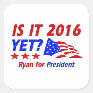 Paul Ryan for President designs Square Sticker