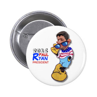 Paul Ryan for President in 2016 Pinback Button