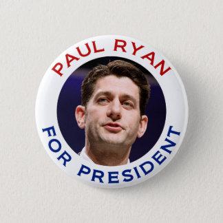 Paul Ryan For President Pinback Button