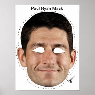 Paul Ryan Halloween Mask Poster