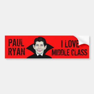 Paul Ryan Loves Middle Class Car Bumper Sticker