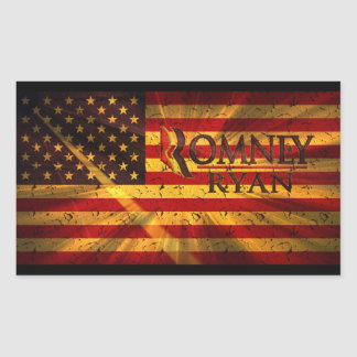 Paul Ryan Mitt Romney Rectangle Sticker