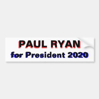Paul Ryan para el blanco del presidente 2020 Etiqueta De Parachoque