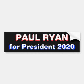 Paul Ryan para el presidente 2020 Etiqueta De Parachoque