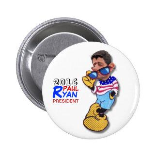 Paul Ryan para el presidente en 2016 Pin Redondo De 2 Pulgadas