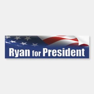 Paul Ryan para el presidente Pegatina Para Auto