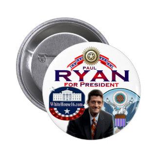 Paul Ryan para presidente Button Pin Redondo 5 Cm