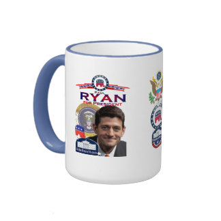 Paul Ryan para presidente Ringer Mug Taza