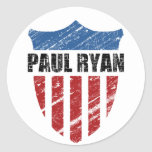 Paul Ryan Pegatina Redonda