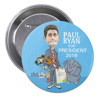 Paul Ryan President 2016 Pinback Button
