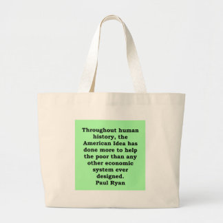paul ryan quote canvas bag