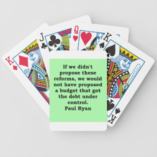 paul ryan quote bicycle playing cards