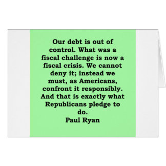 paul ryan quote card