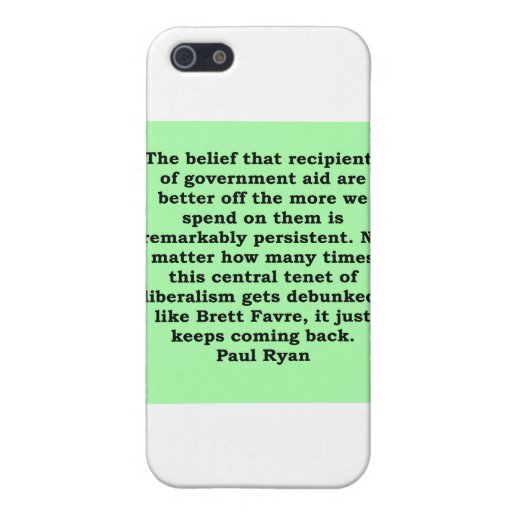 paul ryan quote case for iPhone 5/5S
