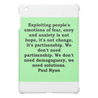 paul ryan quote iPad mini cover