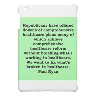 paul ryan quote cover for the iPad mini