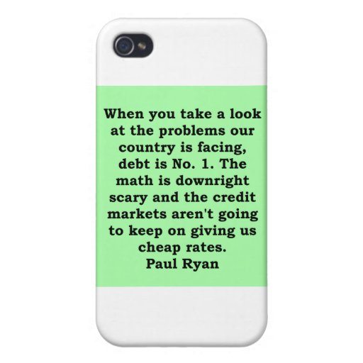 paul ryan quote iPhone 4/4S case