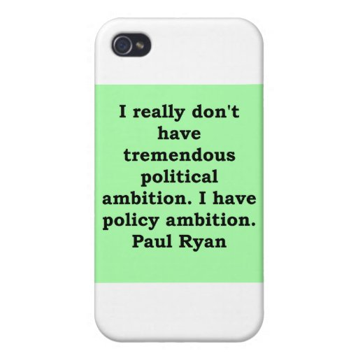 paul ryan quote iPhone 4 cover