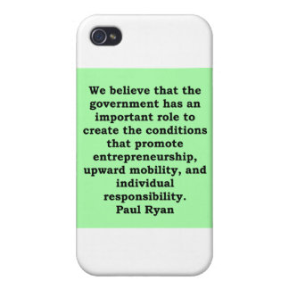 paul ryan quote covers for iPhone 4