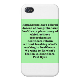 paul ryan quote iPhone 4/4S cover