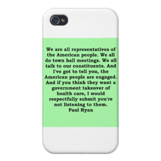 paul ryan quote iPhone 4/4S covers