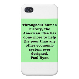 paul ryan quote case for iPhone 4