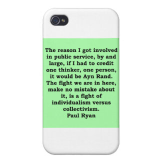 paul ryan quote cover for iPhone 4