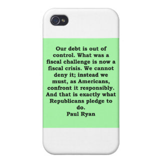 paul ryan quote cases for iPhone 4