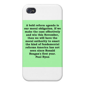 paul ryan quote iPhone 4 covers