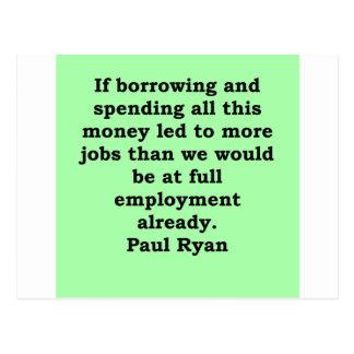 paul ryan quote postcards