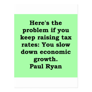 paul ryan quote post card