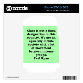 paul ryan quote decal for iPhone 2G