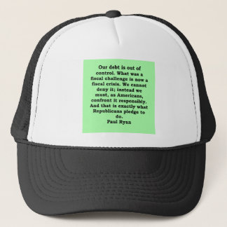 paul ryan quote trucker hat