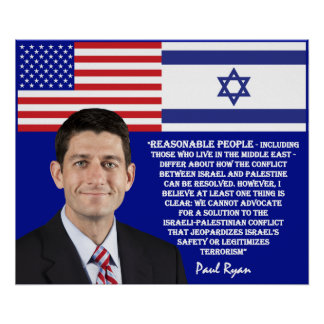 Paul Ryan Talks About Israel Poster