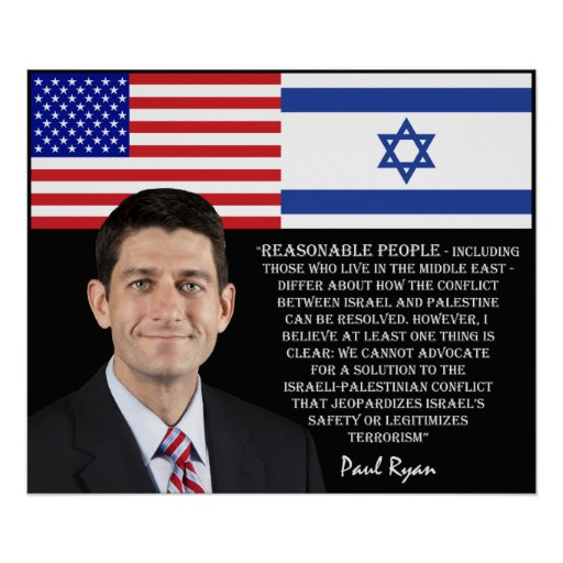 Paul Ryan Talks About Israel Posters