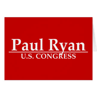 Paul Ryan U.S. Congress Card
