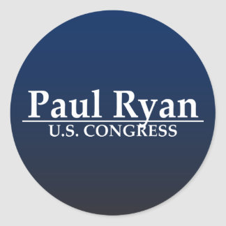 Paul Ryan U.S. Congress Classic Round Sticker