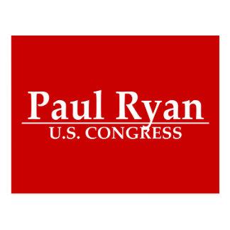Paul Ryan U.S. Congress Post Card