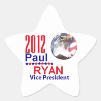 Paul Ryan VP Pegatina En Forma De Estrella