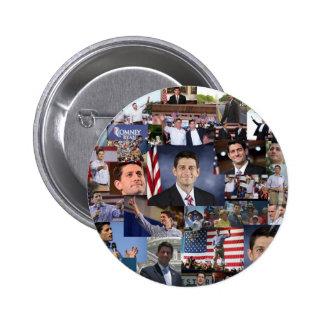 Paul Ryan VP republicano Pin Redondo 5 Cm