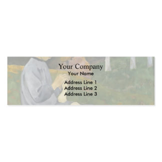 Paul Serusier- Girl from Savoy Double-Sided Mini Business Cards (Pack Of 20)