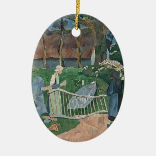 Paul Serusier- la barrera florecida Adorno De Navidad