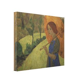Paul Serusier- Madame Serusier with a Parasol Stretched Canvas Prints