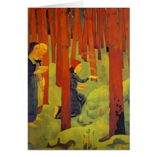 Paul Serusier- The Incantation The Holy Wood Greeting Card