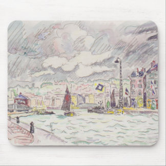 Paul Signac- Le Havre con las nubes de lluvia Alfombrilla De Ratones