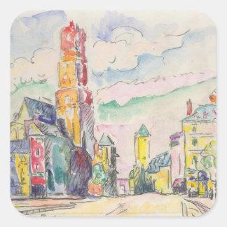 Paul Signac Painting Square Sticker