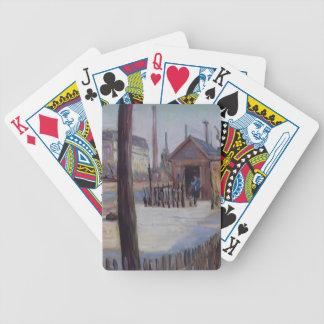 Paul Signac- Railway junction near Bois Colombes Poker Cards
