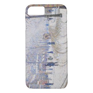Paul Signac - Snow, Boulevard de Clichy, Paris iPhone 7 Case